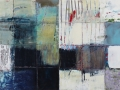 7. GRID 2 16x32 in encaustic on pressed tin 2012